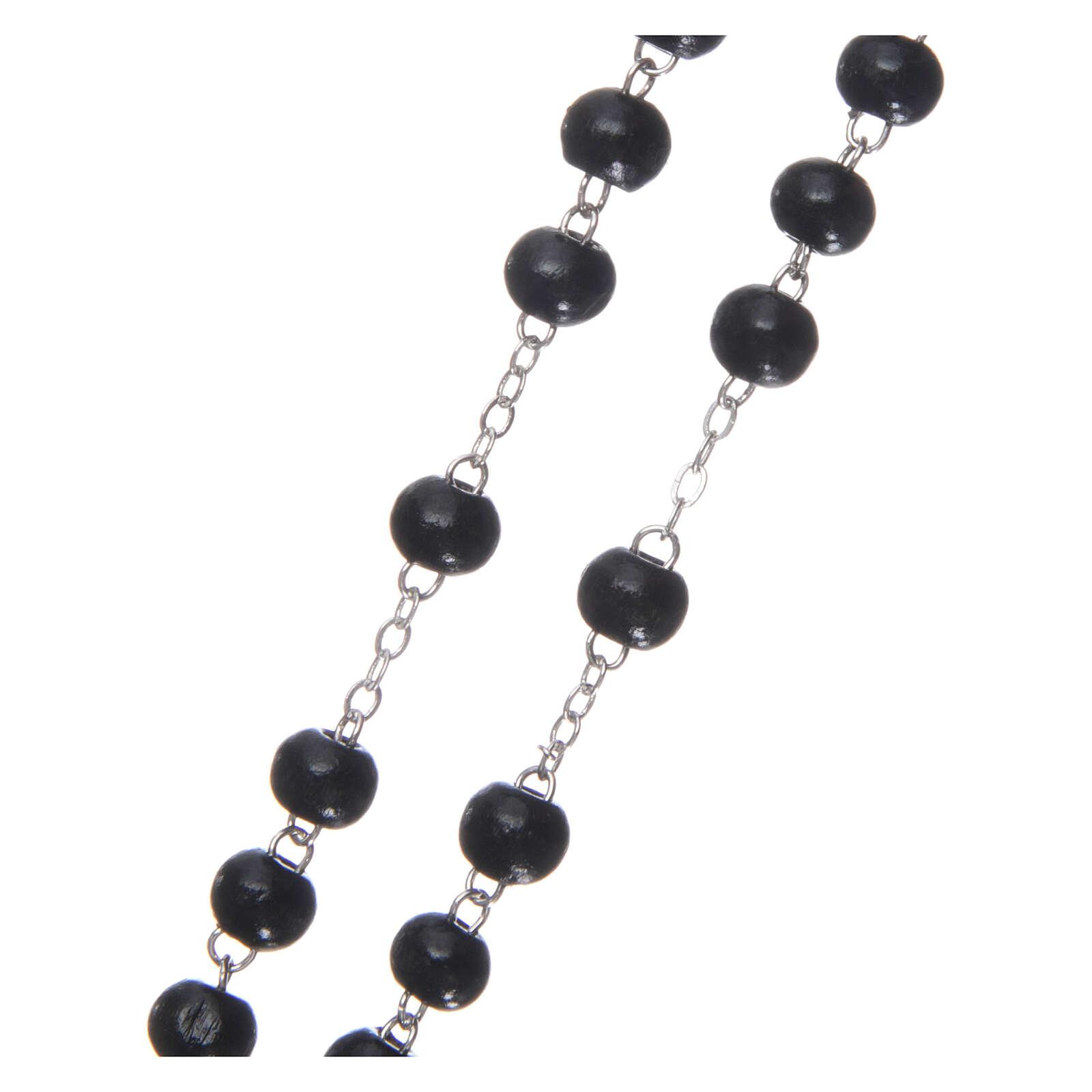 Rosary black wood 4 mm 4