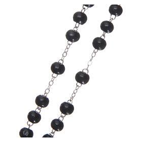Rosary black wood 4 mm s3