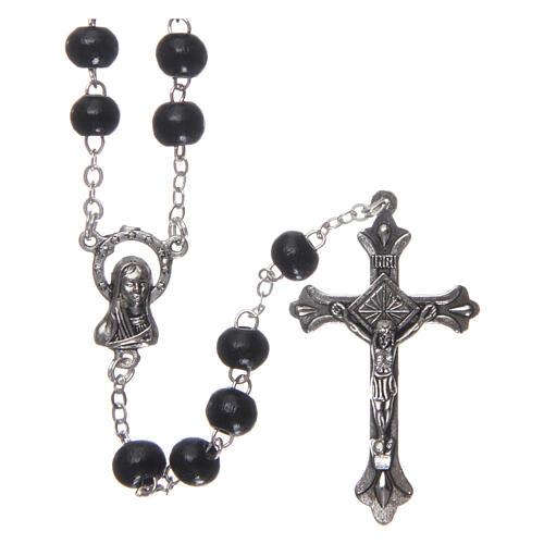 Rosary black wood 4 mm 1