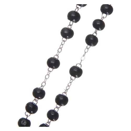 Rosary black wood 4 mm 3