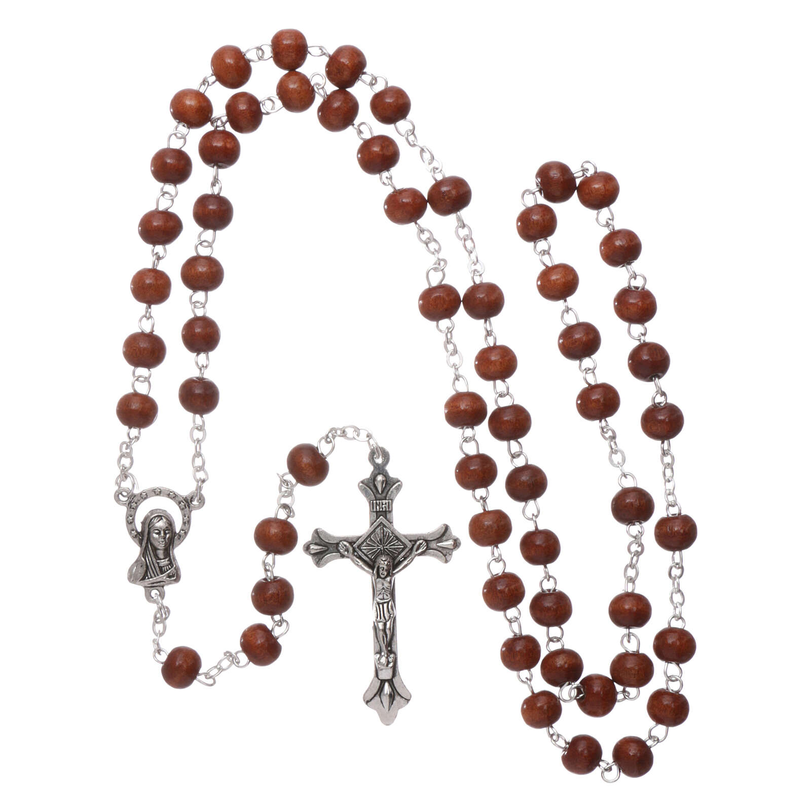 Rosary natural wood 4 mm 4