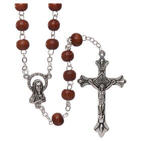 Rosary natural wood 4 mm s1
