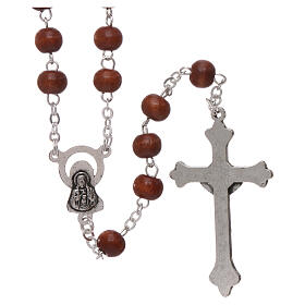 Rosary natural wood 4 mm s2