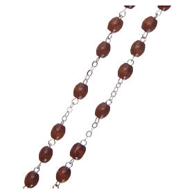 Rosary of natural wood 4 mm beads s3