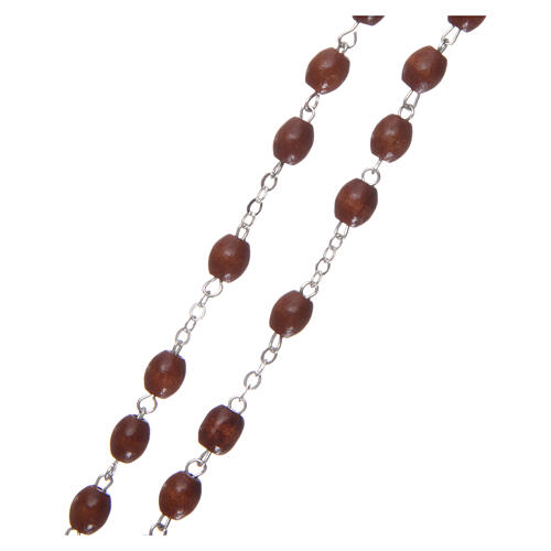 Rosary of natural wood 4 mm beads 3