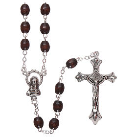 Rosary rosewood 4 mm beads s1