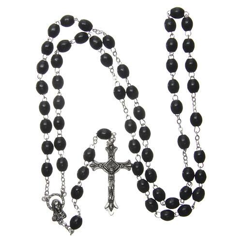Rosary black wood 5 mm 4