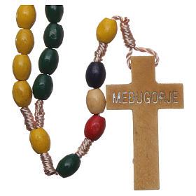 Rosario missionario in legno e legatura in seta s2