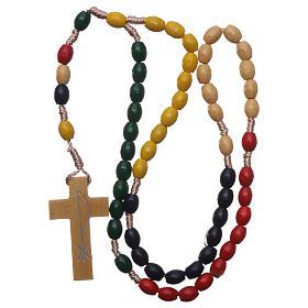 Rosario missionario in legno e legatura in seta s4