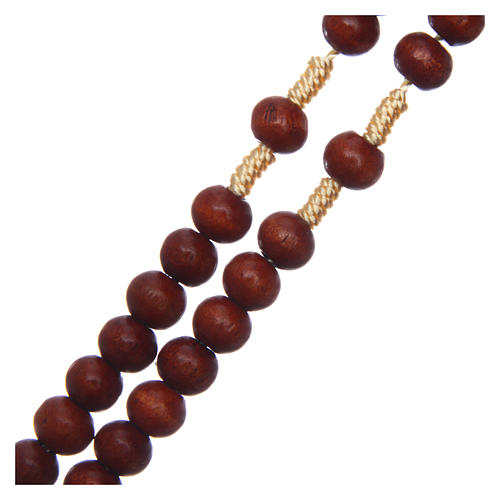 Rosary in raw wood with snap-hook 4 mm 3