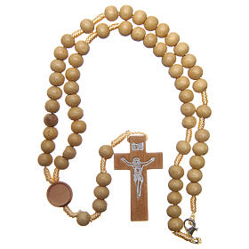 Rosary with pale wood beads 4 mm s4