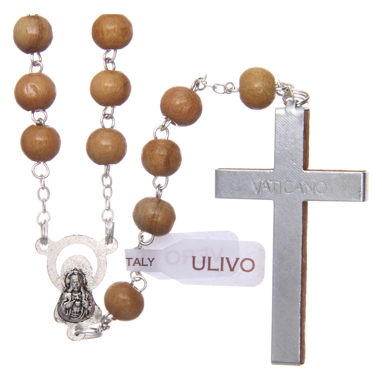 Rosary in real olive wood with 6mm round beads 4