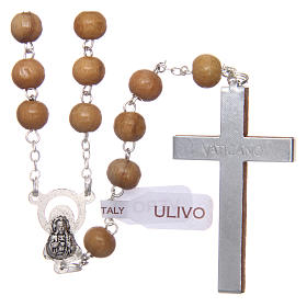 Rosary in real olive wood with 6mm round beads s2