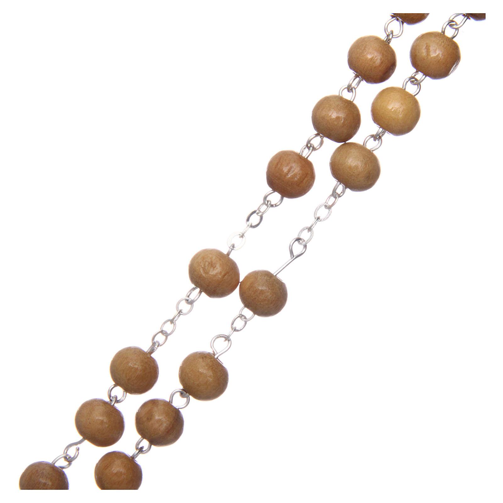 Chapelet en olivier véritable grains ronds 6 mm 4
