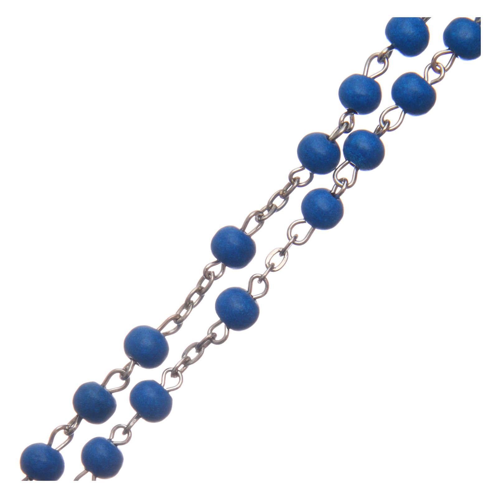 Rosario in legno blu 6 mm 4