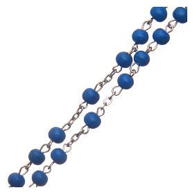 Rosario in legno blu 6 mm s3
