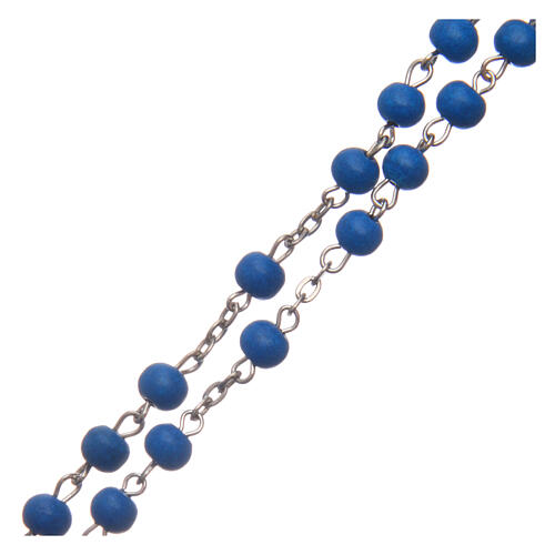 Rosary of blue wood 6 mm 3