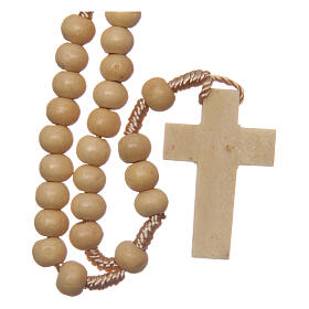 Wood rosary round beads 6 mm non-wearable s2