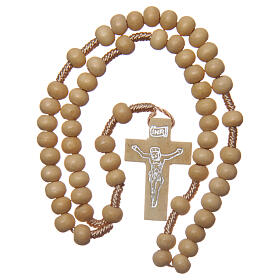 Wood rosary round beads 6 mm non-wearable s4