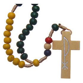 Missionary rosary with wooden beads 5 mm s1