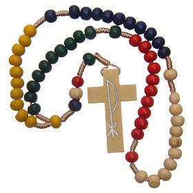Rosario misionero con granos de madera 5 mm s4