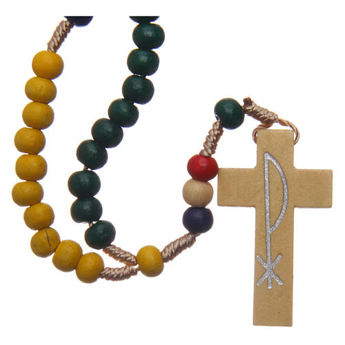 Chapelet missionnaire avec grains en bois 5 mm 1