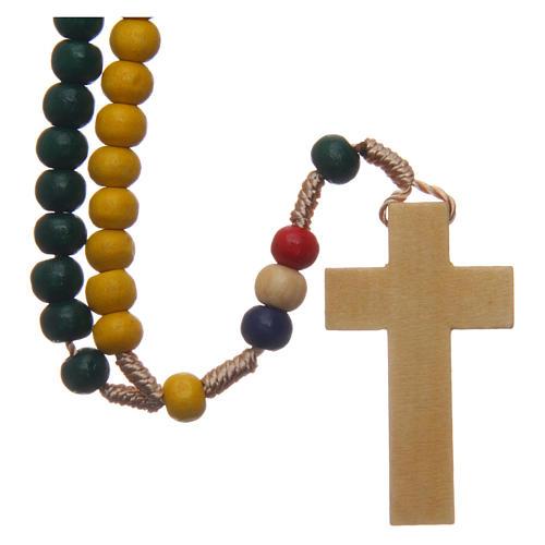 Terço missionário com contas em madeira 5 mm 2