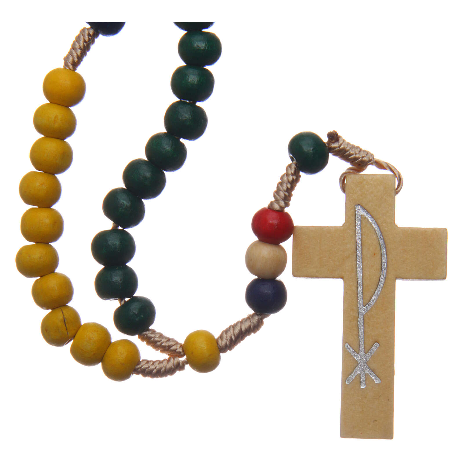 Missionary rosary with wood beads 5 mm 4
