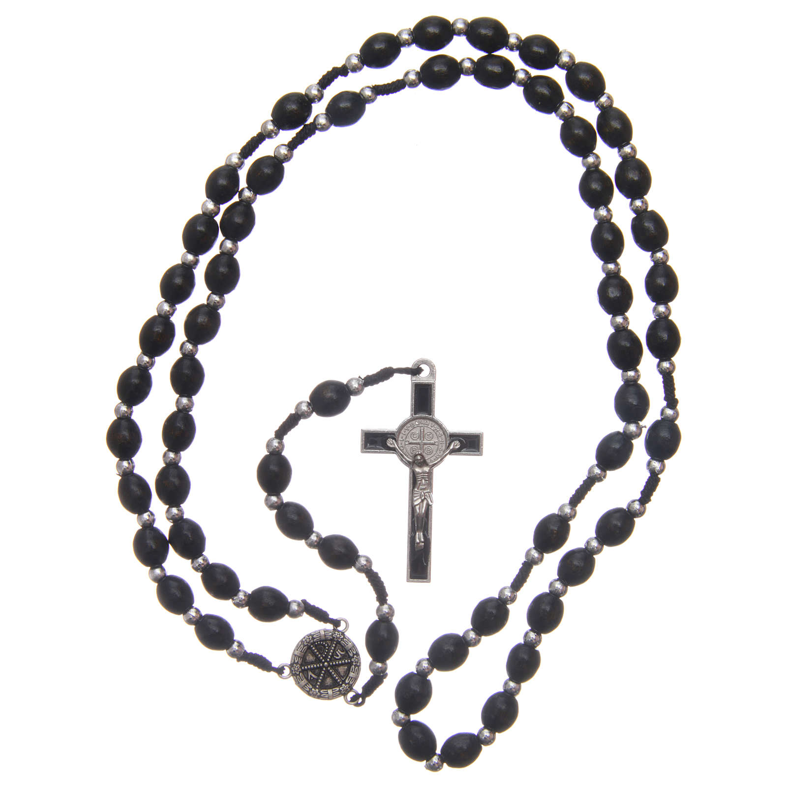 Oval wooden rosary 6 mm 4