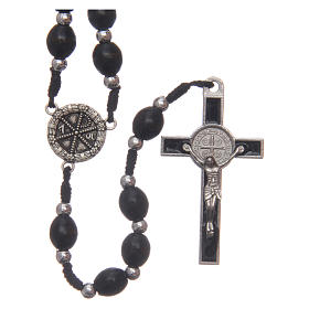 Oval wooden rosary 6 mm s1