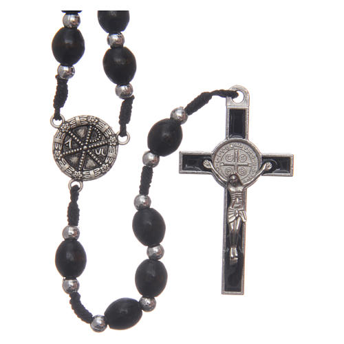 Oval wooden rosary 6 mm 1