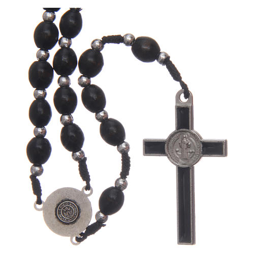 Oval wooden rosary 6 mm 2