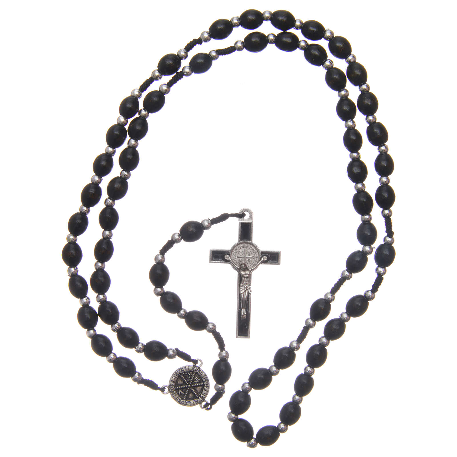 Wood rosary oval beads 6 mm 4