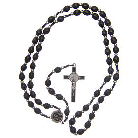 Wood rosary oval beads 6 mm s4