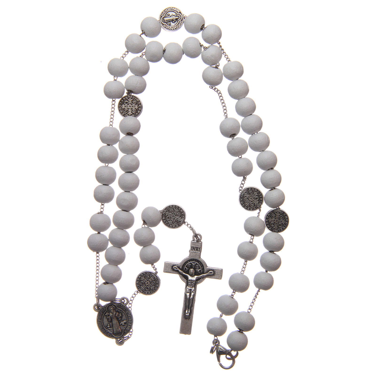 St Benedict rosary in wood 7 mm 4