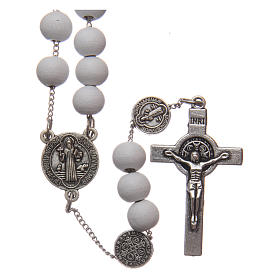 St Benedict rosary in wood 7 mm s1