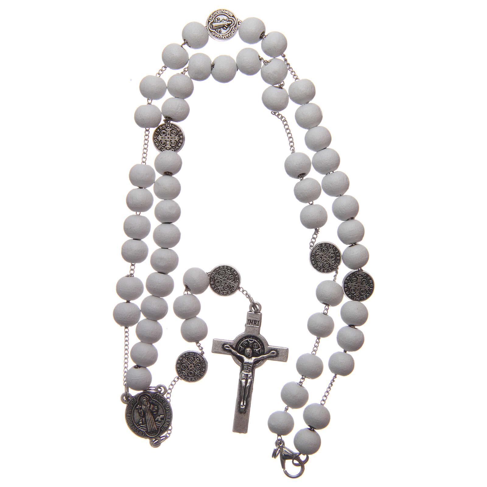 Saint Benedict rosary wood beads 7 mm 4