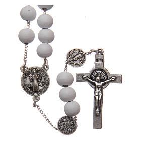 Saint Benedict rosary wood beads 7 mm s1