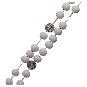 Saint Benedict rosary wood beads 7 mm s3