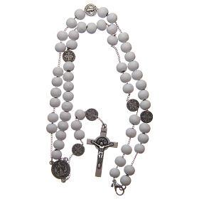 Saint Benedict rosary wood beads 7 mm s4