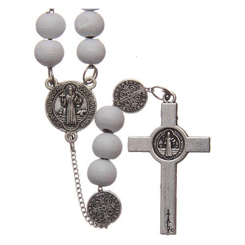 Saint Benedict rosary wood beads 7 mm 2