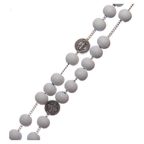 Saint Benedict rosary wood beads 7 mm 3