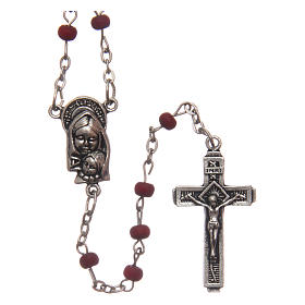 Wooden rose petal rosary 4 mm s1