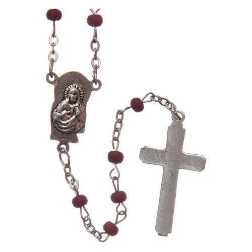 Wooden rose petal rosary, 4mm 2