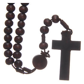 Wooden rosary 8 mm with snap-hook s2
