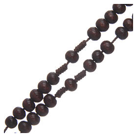 Wooden rosary 8 mm with snap-hook s3