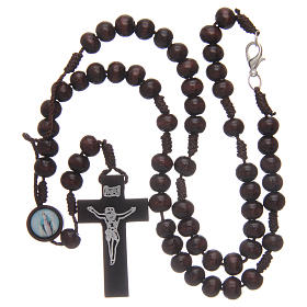 Wooden rosary 8 mm with snap-hook s4