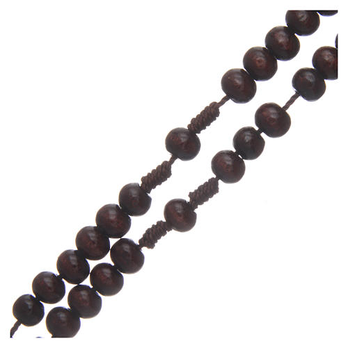 Wooden rosary 8 mm with snap-hook 3