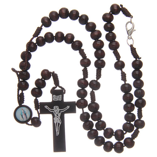 Wooden rosary 8 mm with snap-hook 4