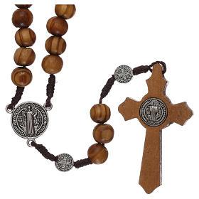 Rosario madera olivo con medallas y granos mm 9 s2